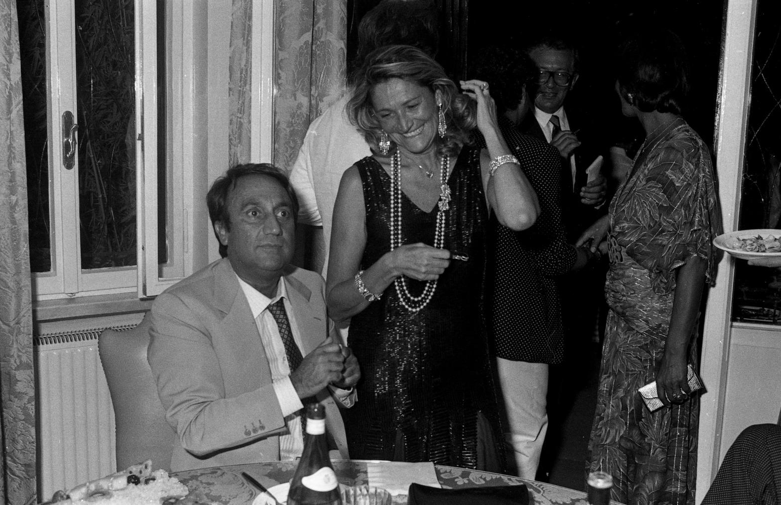 Emilio Fede e Marta Marzotto