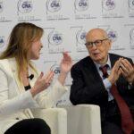 Maria Elena Boschi e Giorgio Napolitano