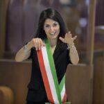 Virginia Raggi in Assemblea Capitolina all'insediamento della Giunta