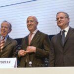 Pier Carlo Padoan, Antonio Patuelli e Ignazio Visco