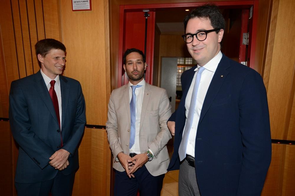 Andrew Spannaus, Andrea Chiappetta e Lorenzo Castellani