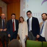 Roberto Arditti, Andrew Spannau, Maria Latella, Lorenzo Castellani e Andrea Chiappetta