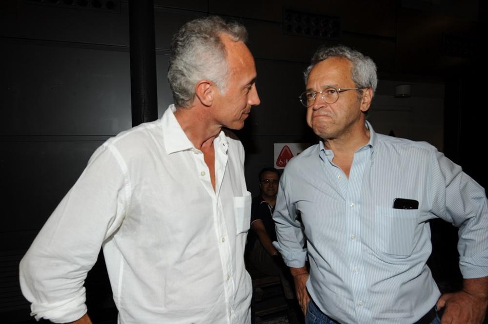 Marco Travaglio ed Enrico Mentana