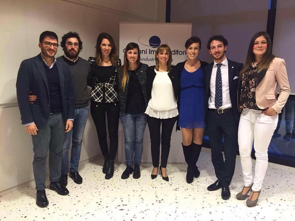 La squadra di Alessia Forte nel Gruppo Giovani Imprenditori di Unindustria Treviso