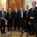 Pier Luigi Celli, Antonio Longo, Marco Morelli, Vittorio Meloni, Roberto Battaglia e Francesco Bertolutti