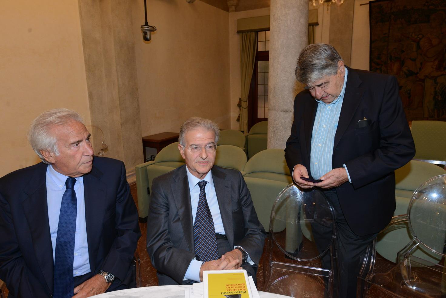 Claudio Signorile Fabrizio Cicchitto Luigi Covatta