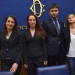 Carla Ruocco. Paola Taverna, Alessandro Di Battista e Roberta Lombardi