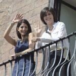 Virginia Raggi in Campidoglio con Chiara Appendino