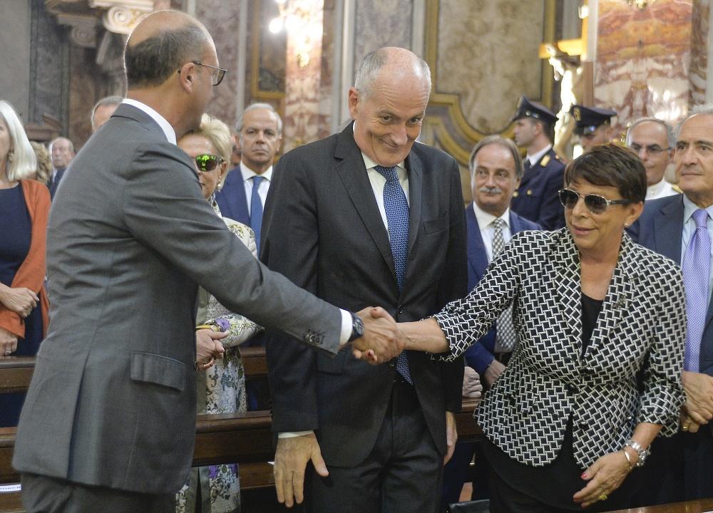 Angelino Alfano e Paola Basilone