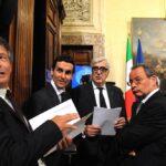 Giuseppe Mussari, Marco Morelli, Massimo Ponzellini e Curti Giardina