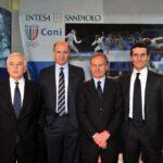 Raffaele Lello PAgnozzi, Corrado Passera, Gianni Petrucci e Marco Morelli