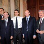 Attilio Tranquilli, Aurelio Regina, Marco Morelli, Vincenzo Boccia e Luciano Nebbia