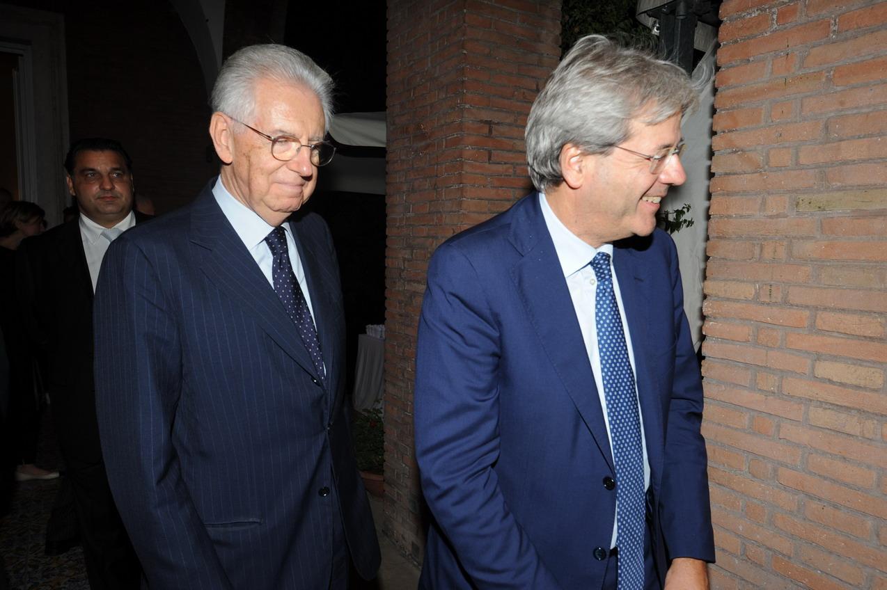 Mario Monti e Paolo Gentiloni