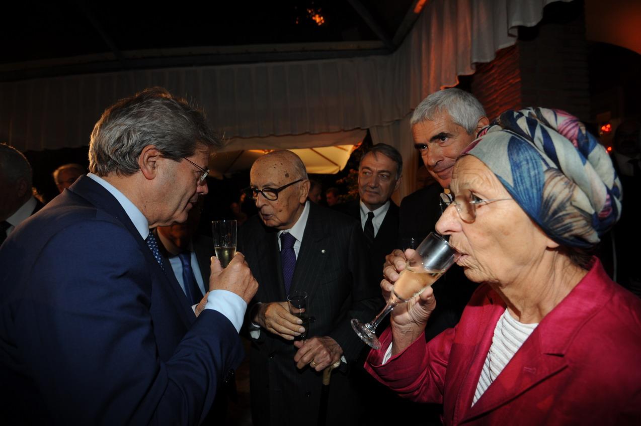 Paolo Gentiloni, Giorgio Napolitano ed Emma Bonino