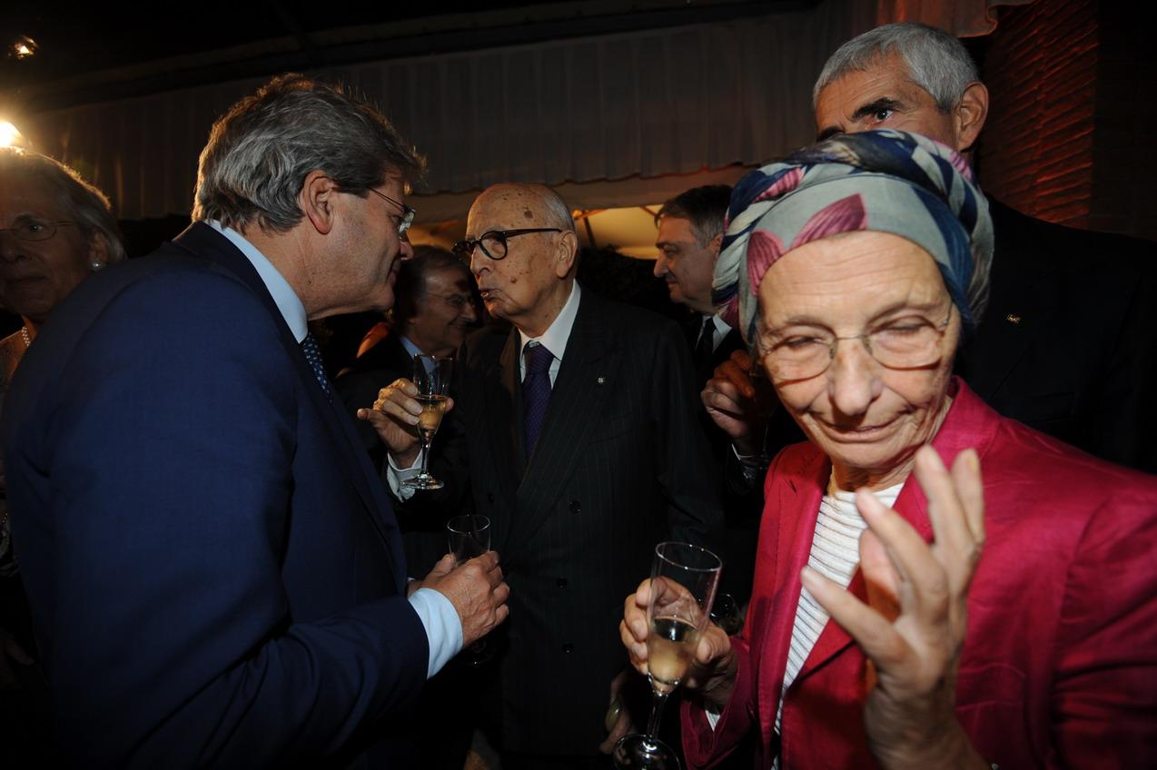 Paolo Gentiloni, Giorgio Napolitano, Pier Ferdinando Casini, Emma Bonino