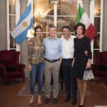 Agnese e Matteo Renzi con Mauricio Macri e la moglie - Imagoeconomica
