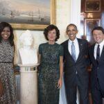 Agnese e Matteo Renzi con Michelle e Barack Obama - Imagoeconomica