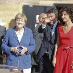 Agnese Renzi e Angela Merkel- Imagoeconomica