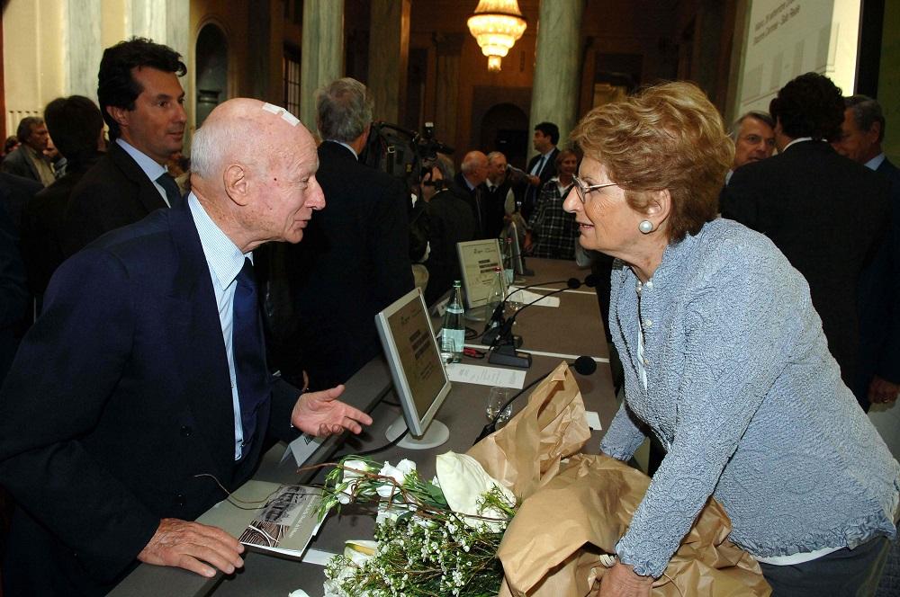 Bernardo Caprotti e Liliana Segre -2008