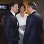 Agnese e Matteo Renzi con Andrea Zappia - Imagoeconomica