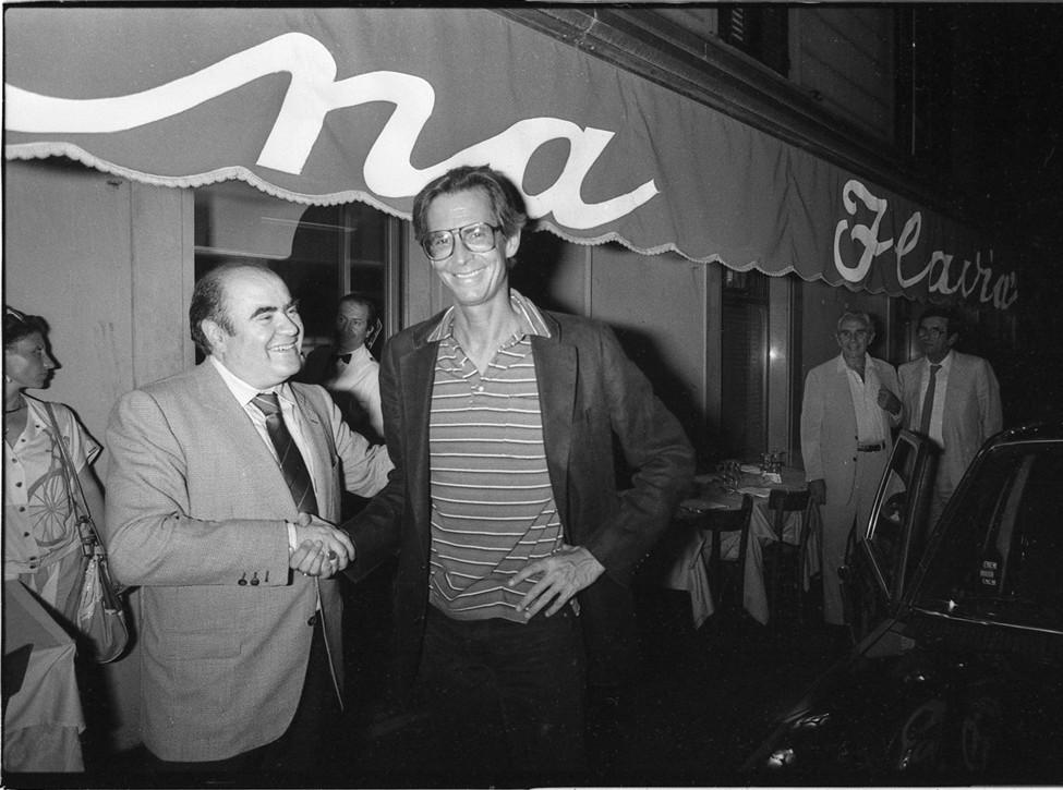 Anthony Perkins e Mimmo Cavicchia