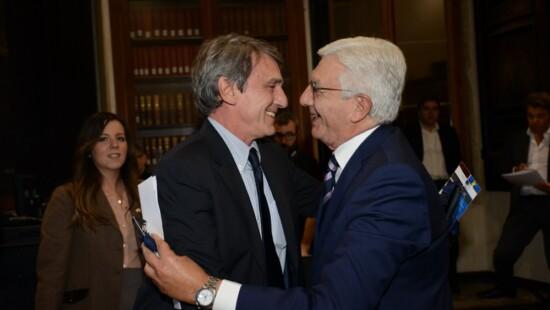 David Sassoli e Gianni De Gennaro