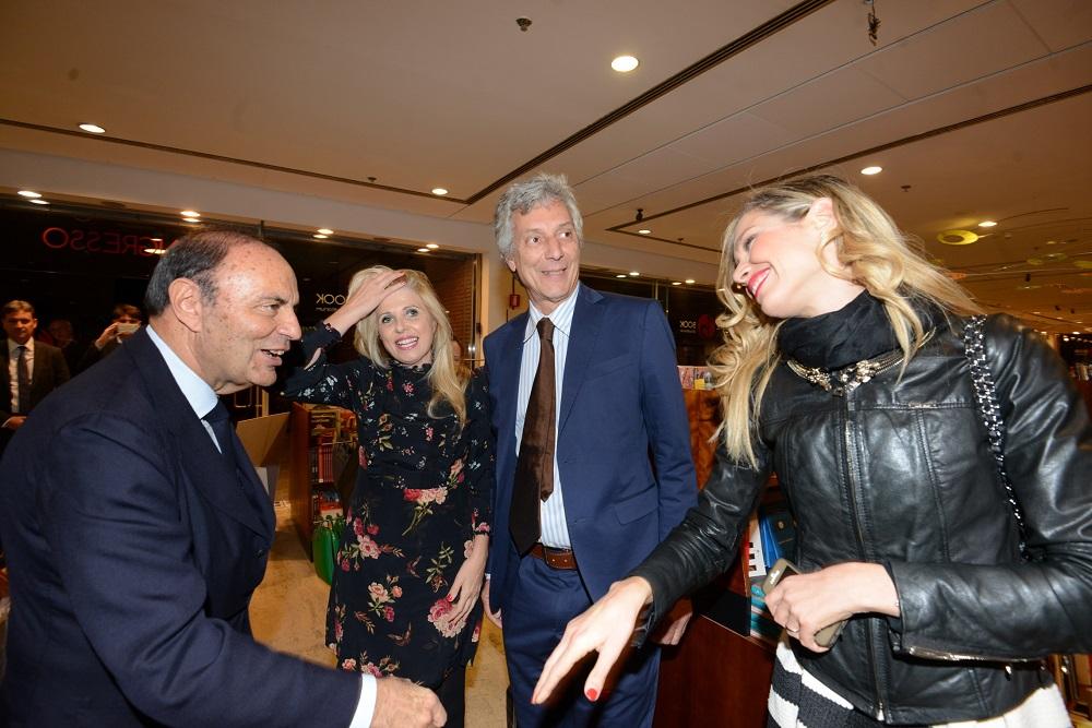 Bruno Vespa, Concita Borrelli, Fulco Ruffo di Calabria e Monica Marangoni