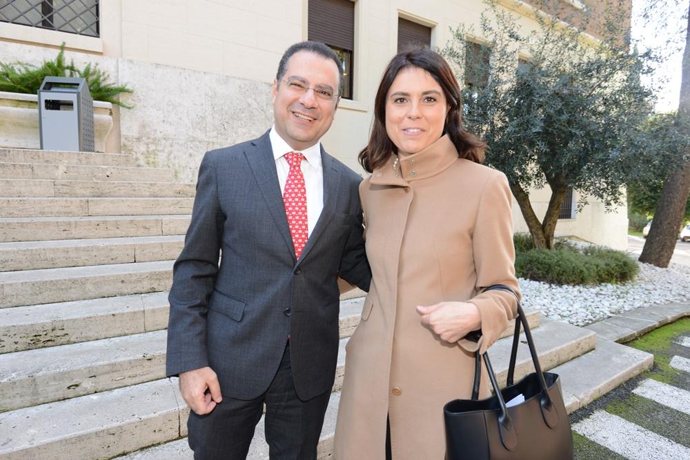 Paolo Messa e Simona Bonafè