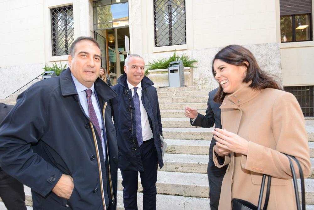 Massimo Bruno, Giuseppe Meduri e Simona Bonafè