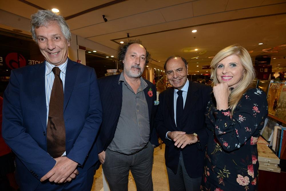 Fulco Ruffo di Calabria, Fulvio Abbate, Bruno Vespa e Concita Borrelli