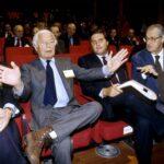 Luigi Abete, Gianni Agnelli, Giorgio Fossa, Cesare Romiti (1990)