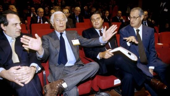 Luigi Abete, Gianni Agnelli, Giorgio Fossa, Cesare Romiti