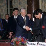 Boris Eltsin, Romano Prodi, Giorgio Fossa (1998)
