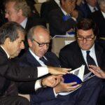 Vittorio Merloni, Lamberto Dini, Giorgio Fossa (2003)