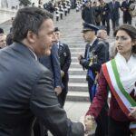 Matteo Renzi e Virginia Raggi