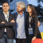 Luigi Di Maio, Beppe Grillo e Virginia Raggi