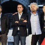 Roberto Fico, Luigi Di Maio, Beppe Grillo e Virginia Raggi