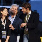 Virginia Raggi, Beppe Grillo e Alessandro Di Battista