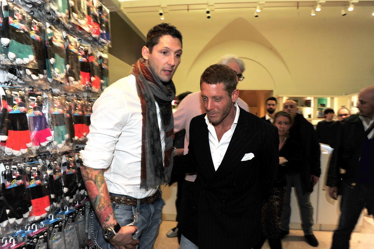 Marco Materazzi e Lapo Elkann