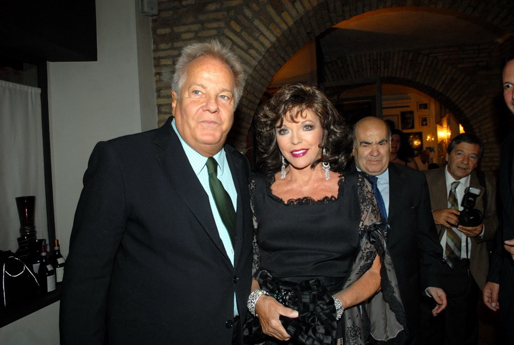 Massimo Gargia, Joan Collins e Mimmo Cavicchia