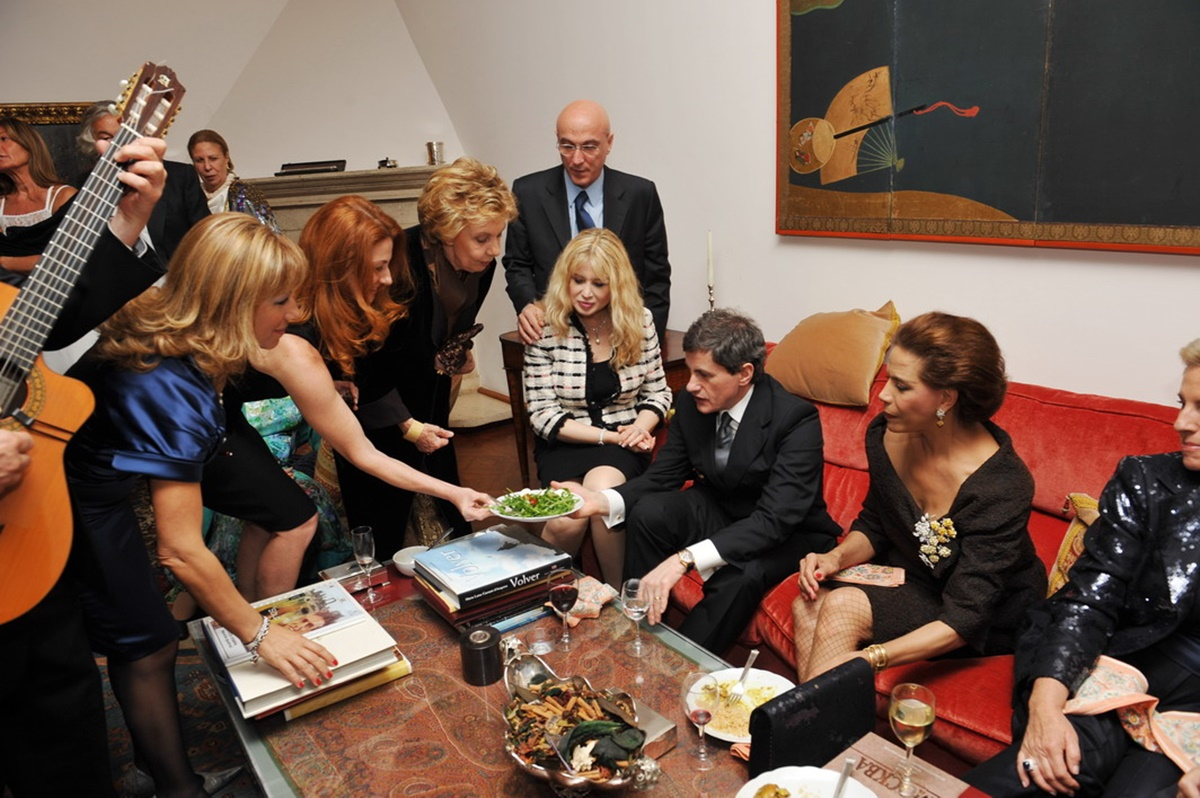 Gianni Alemanno ospite di Marisela Federici
