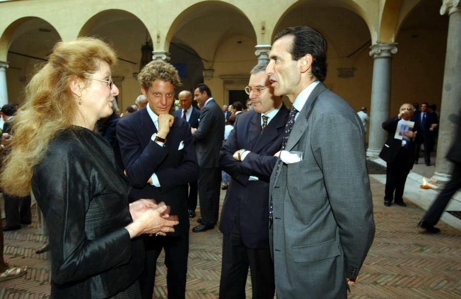 Margherita Agnelli, Lapo Elkann e Ferdinando Brachetti