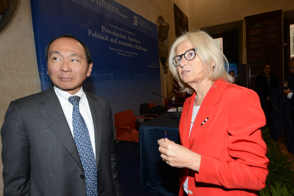 Francis Fukuyama e Marta Dassù