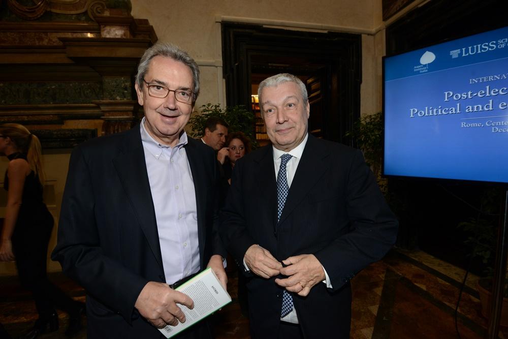 Franco Bernabè e Domenico Siniscalco