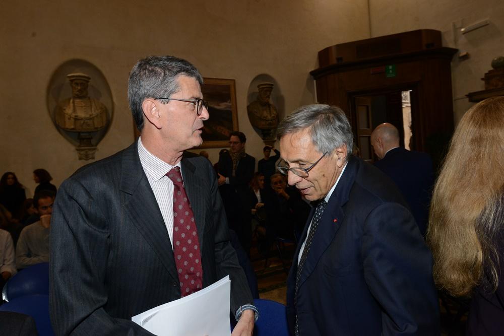 Salvatore Rebecchini e Franco Bassanini