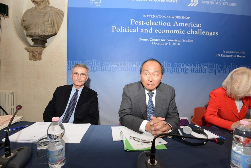 Sergio Fabbrini, Francis Fukuyama e Marta Dassù