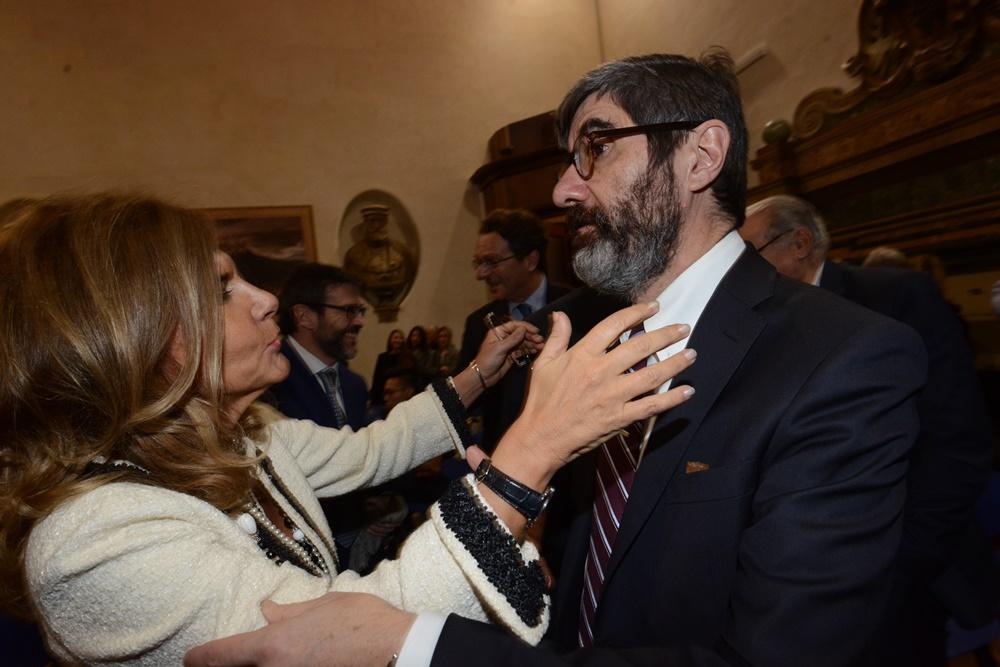 Emma Marcegaglia e Gianni Riotta