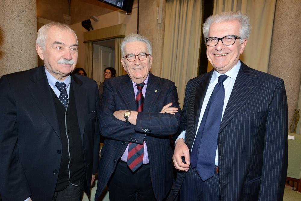 Ugo Sposetti, Gianfranco Pasquino e Luigi Zanda