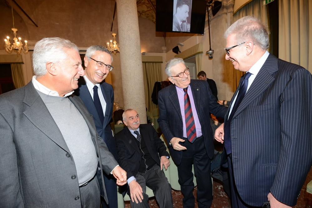 Raffaele Ranucci, Ugo Sposetti, Gianfranco Pasquino e Luigi Zanda