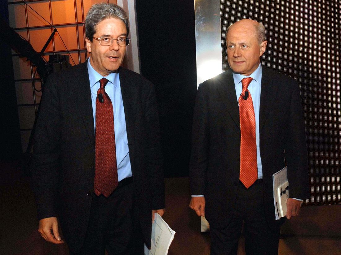 Paolo Gentiloni e Bruno Tabacci